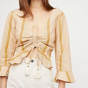 Free People Young Love striped top Sz M